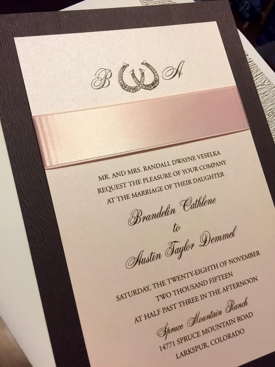 Wood grain invitations