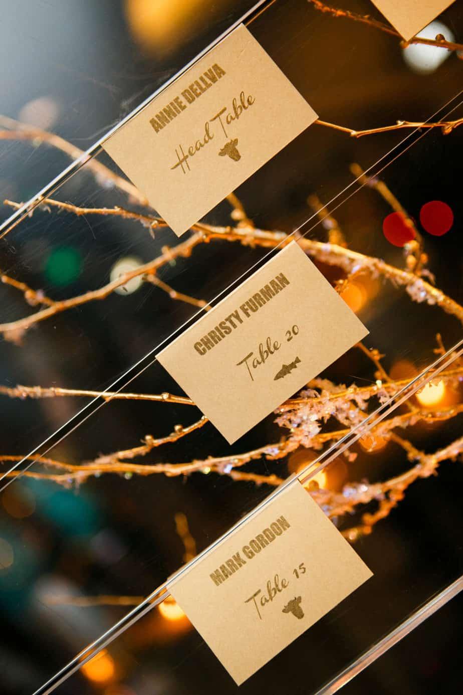 gold place cards_cloud 9_frances photography
