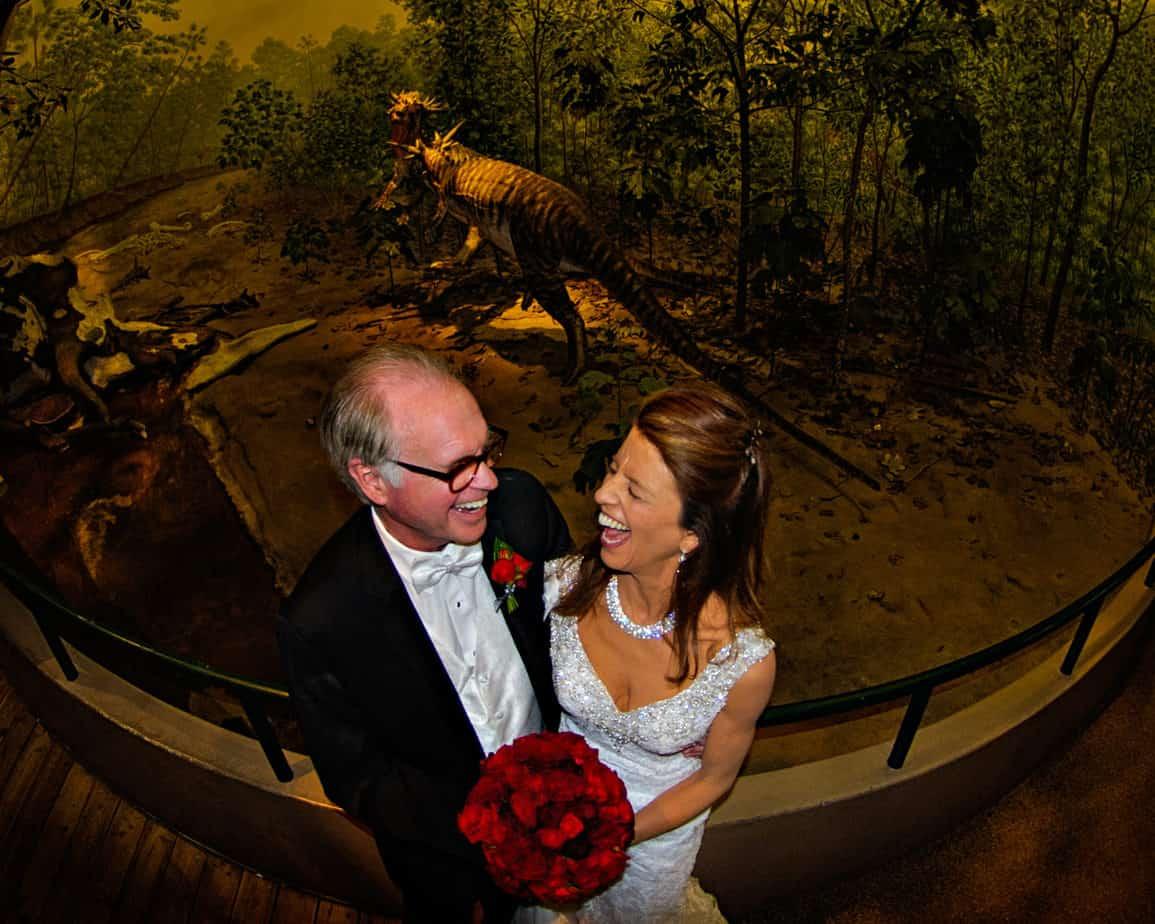 dinosaur diorama_nature and Science wedding
