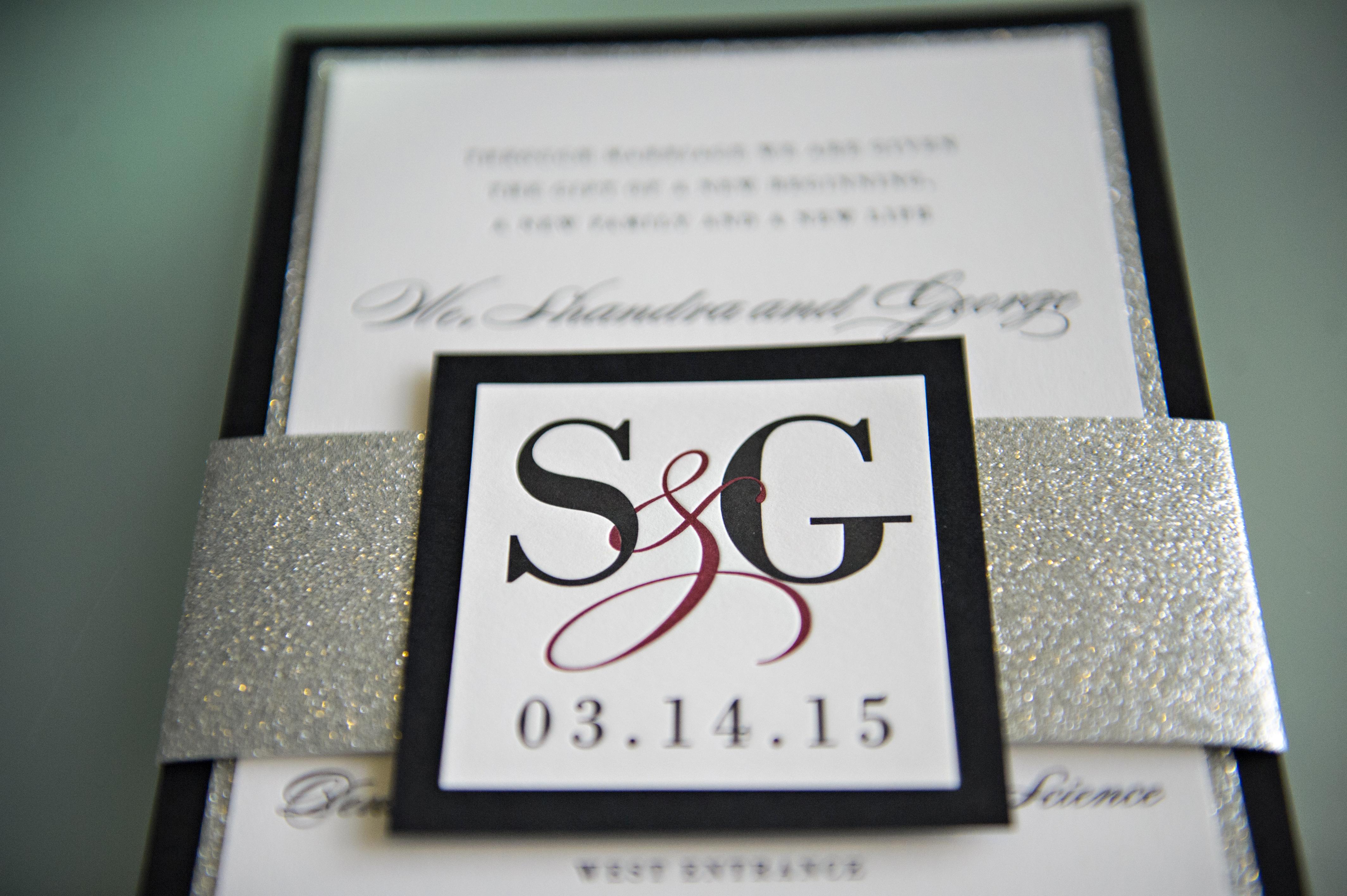 letterpress wedding invitation by cloud 9