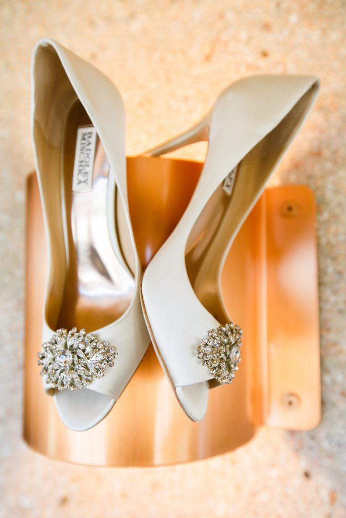 cream badgley mischka wedding shoes