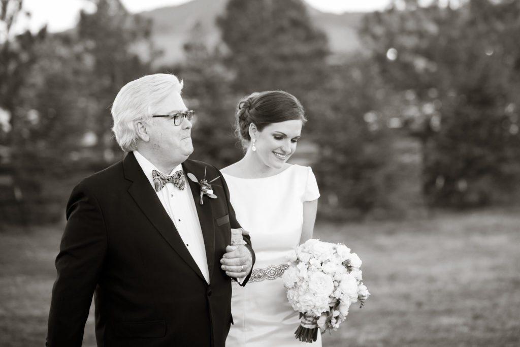 trey's vista wedding ceremony at spruce mountain ranch