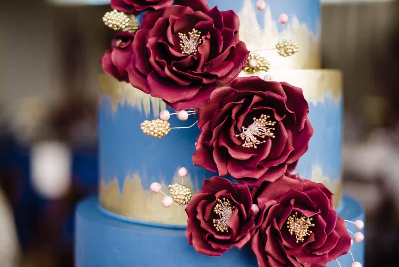 Burgundy Navy Gold Wedding Cake Wedding Cake From Imacimages Co