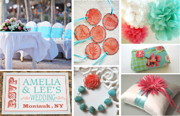 Inspiration 101 ~ Coral and Seafoam | Cloud 9 Weddings & Papers