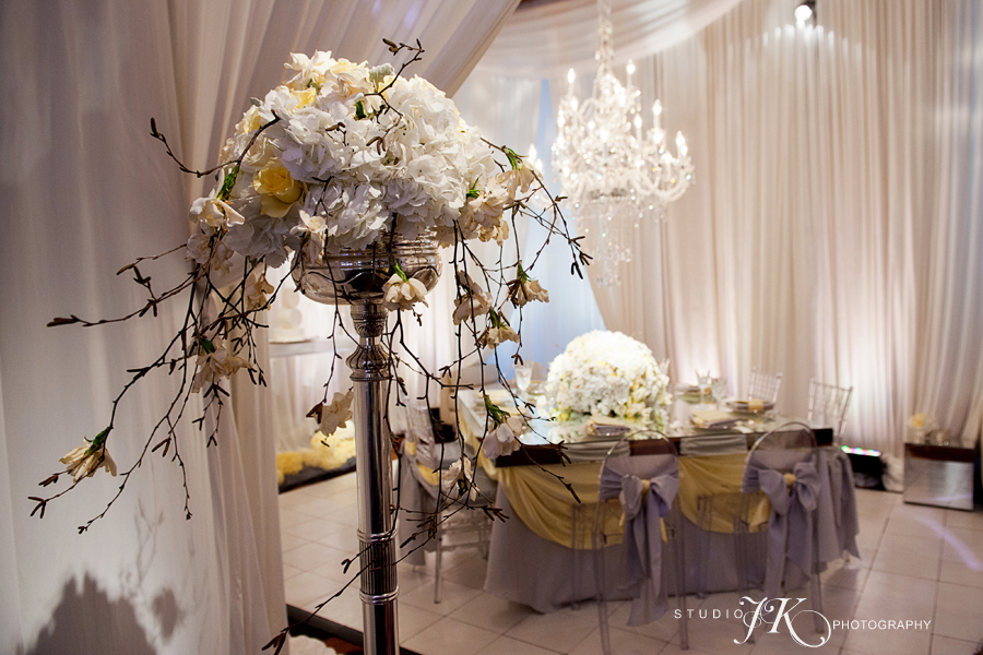 Our four seasons vignette for unveiled inspired by angel for Cloud centerpieces