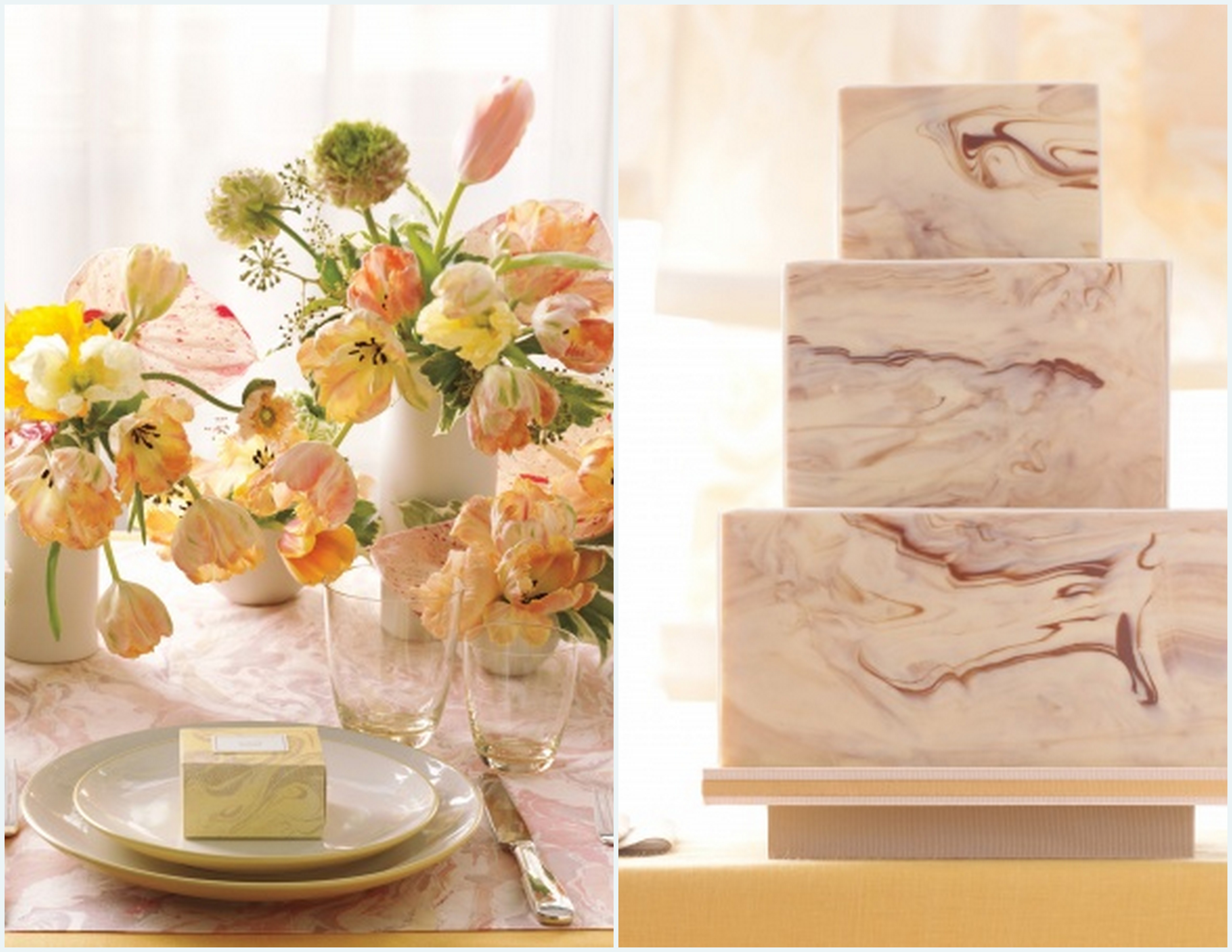 Marble wedding decor inspiration posted in centerpieces junglespirit Gallery