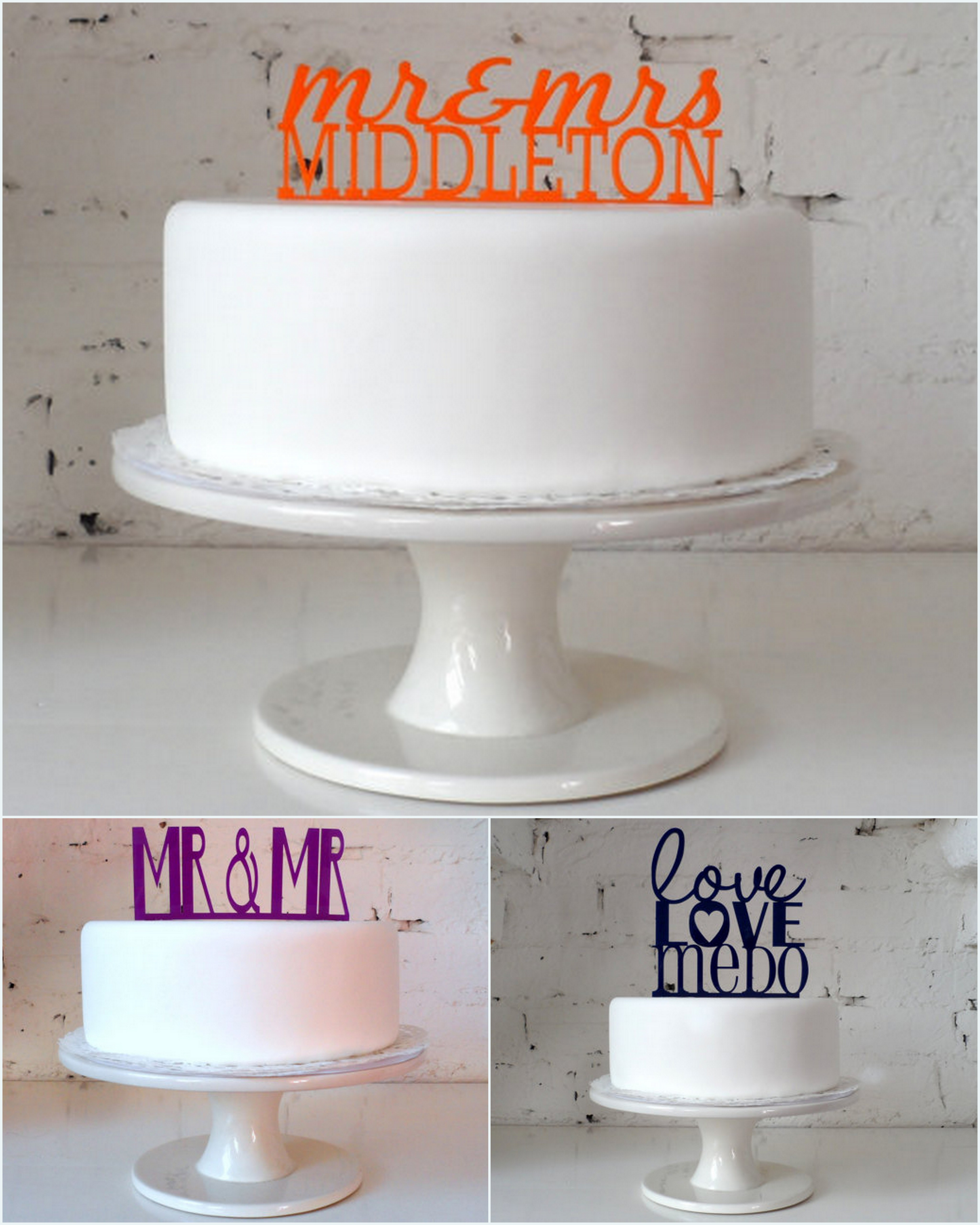 Etsy Cake Toppers by Miss Cake