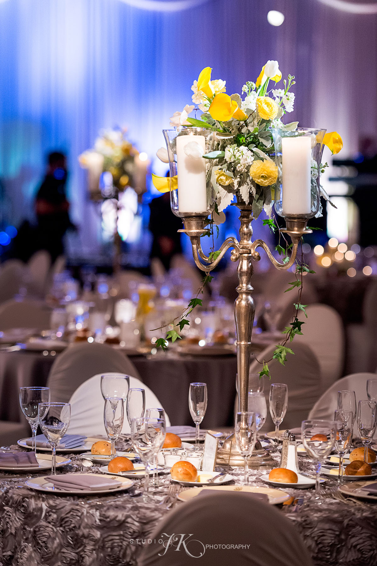 Cloud 9 wedding at the brown palace hotel for Cloud centerpieces