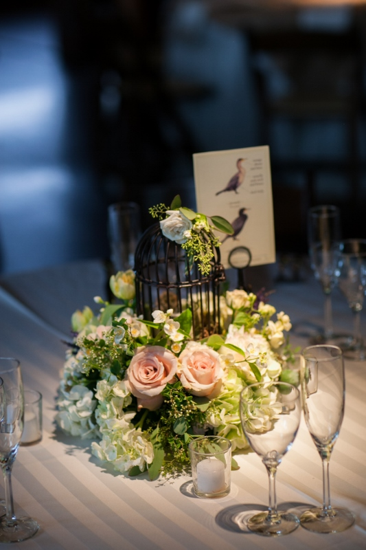 bird cage wedding centerpiece by perfect petal