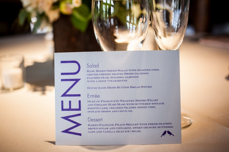 wedding menu by cloud 9