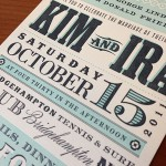 billboard letterpress wedding invitation