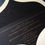 vintage 1920 black wedding invitation