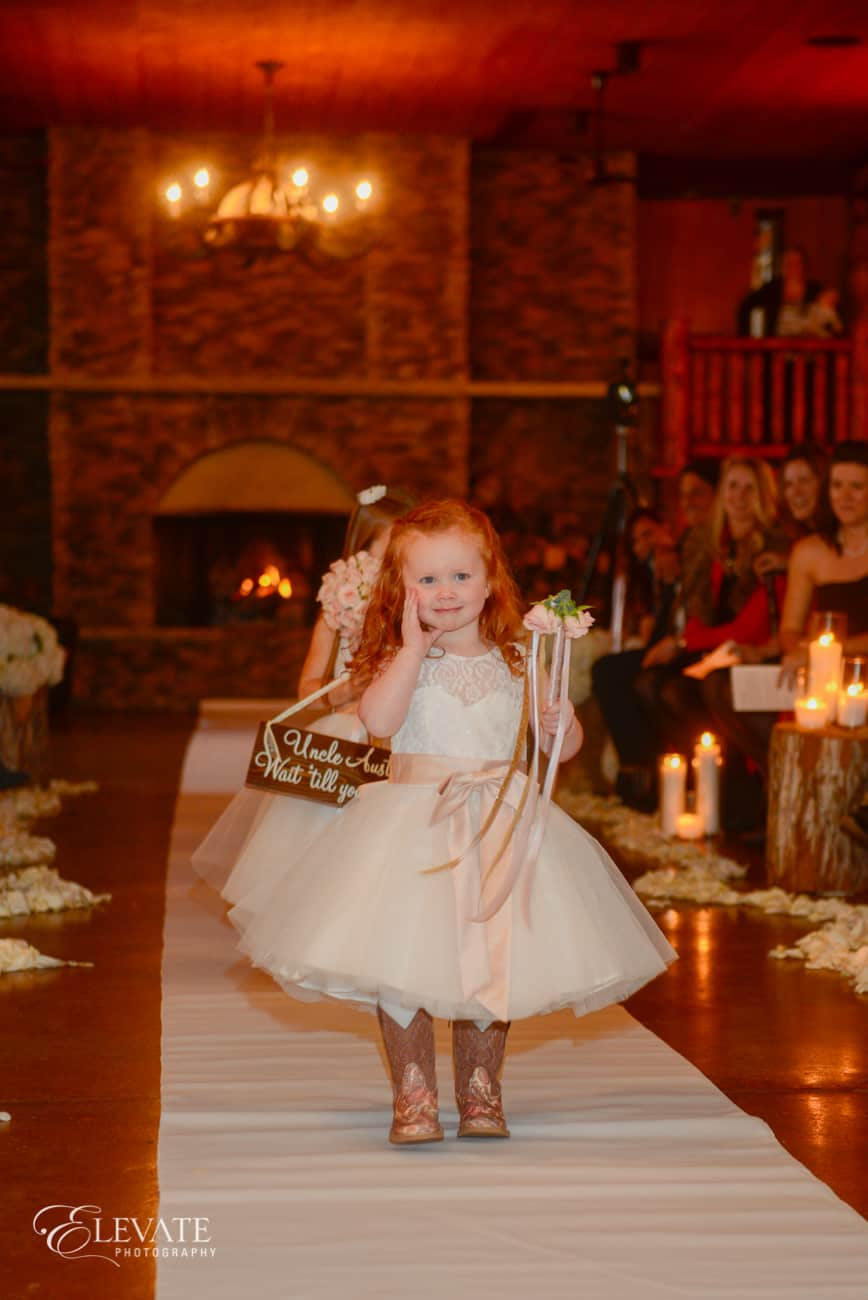 Cloud 9_spruce mountain ceremony_alberts lodge_flower girl
