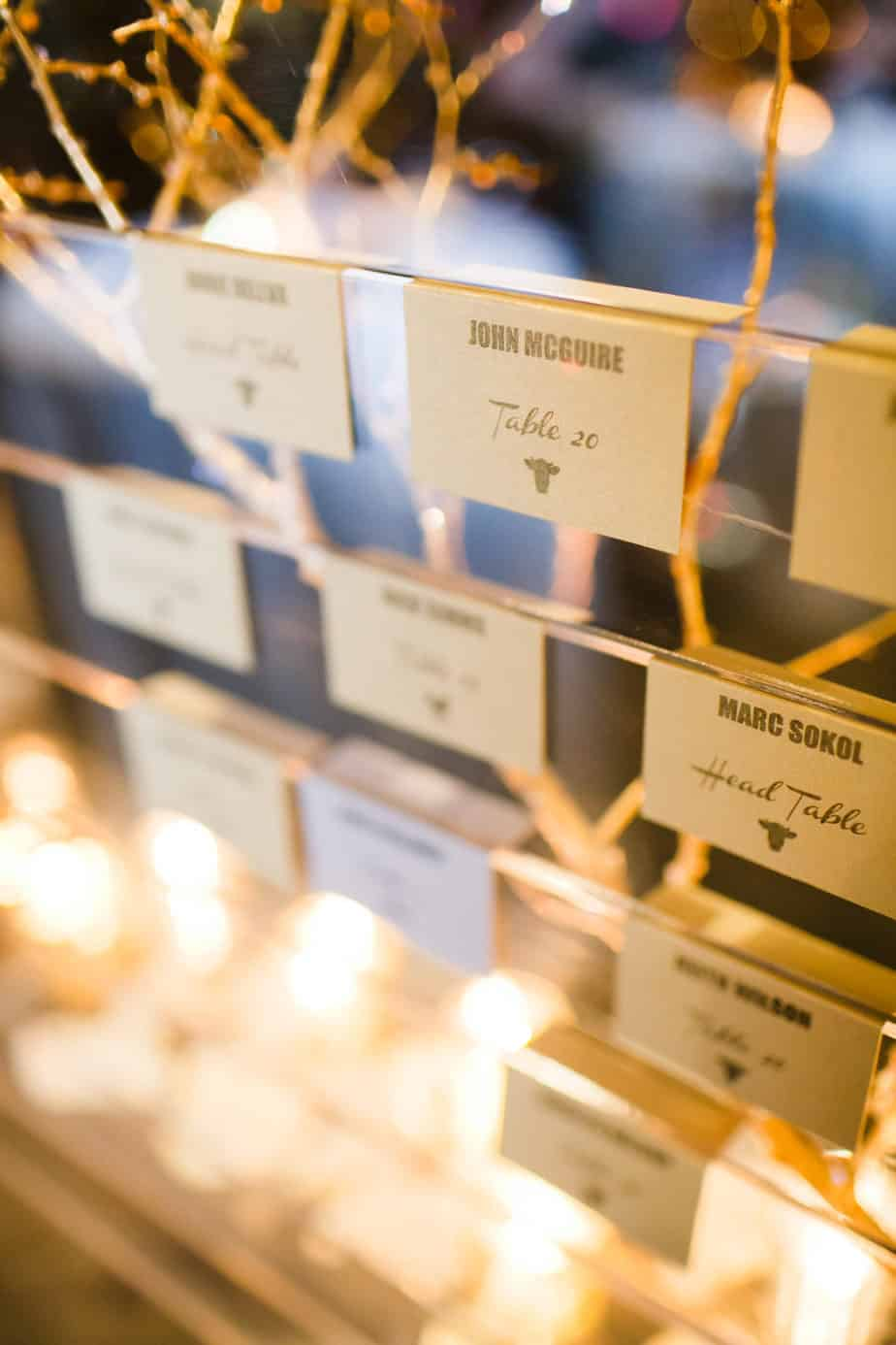 gold and silver escort cards_cloud 9