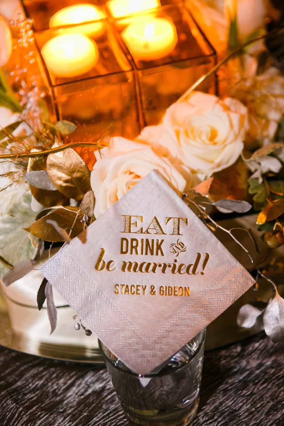 personalized napkin_silver and gold_cloud 9