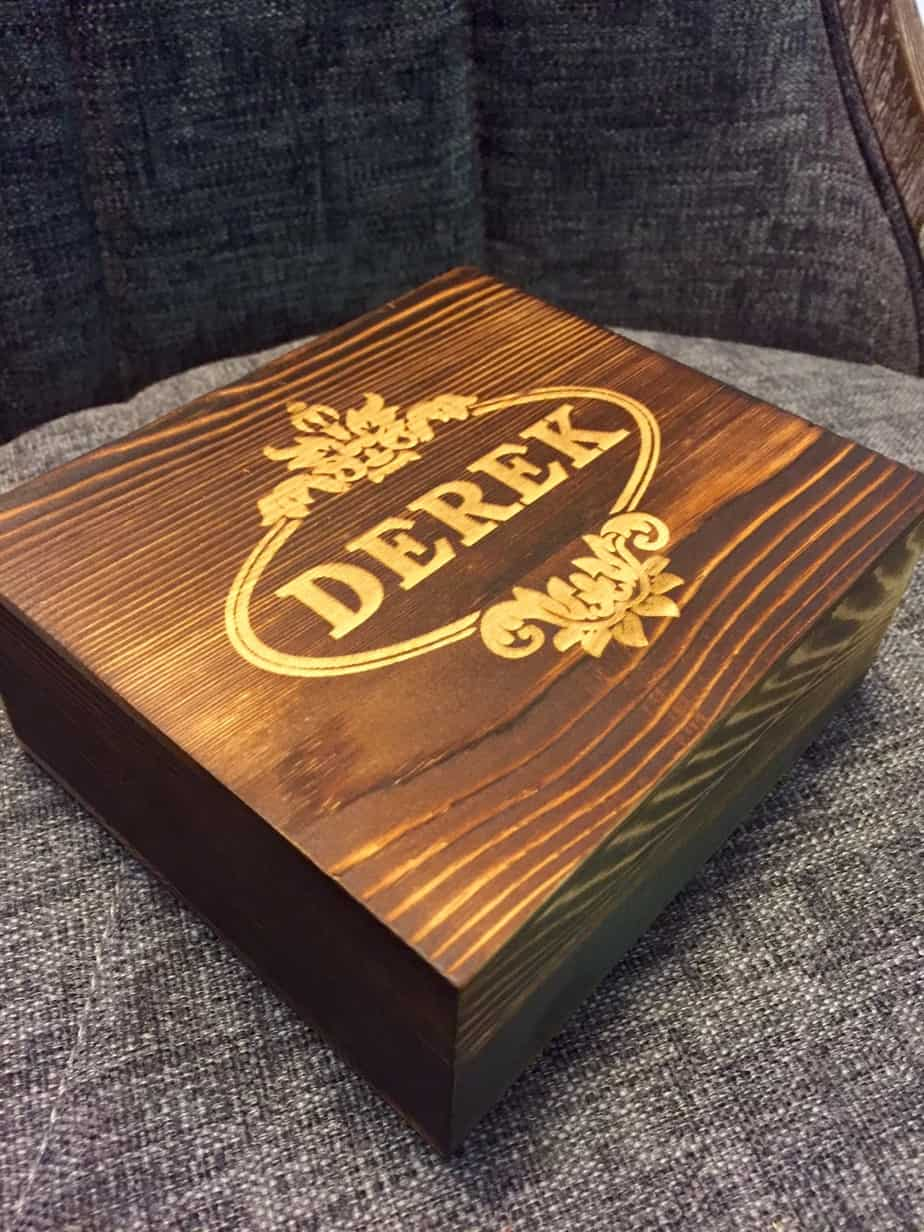 personalized laser engraved box