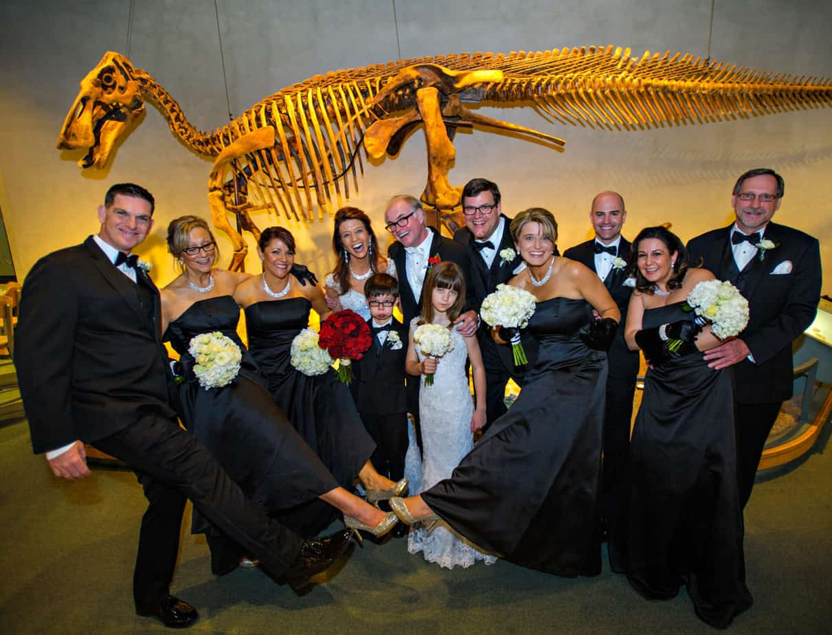 cloud 9_museum of nature and science_dinosaur wedding