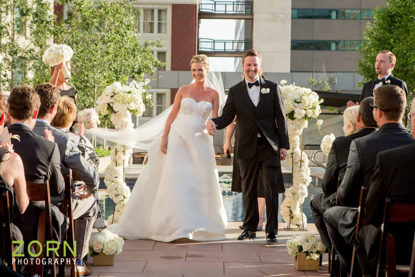 Four Seasons Denver wedding pool terrace