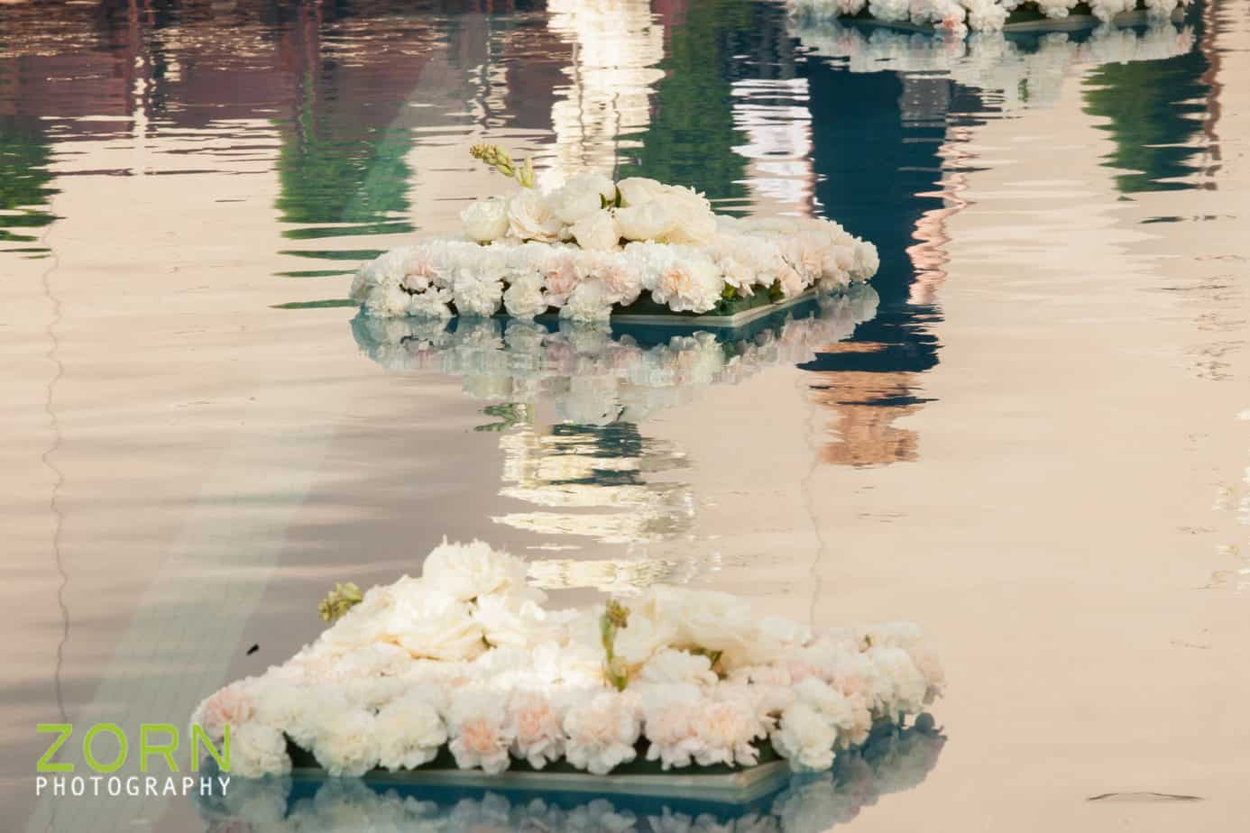 denver wedding planner_floating pool flowers