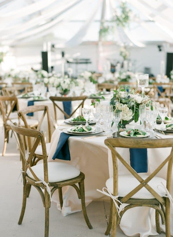 navy, green and gold wedding