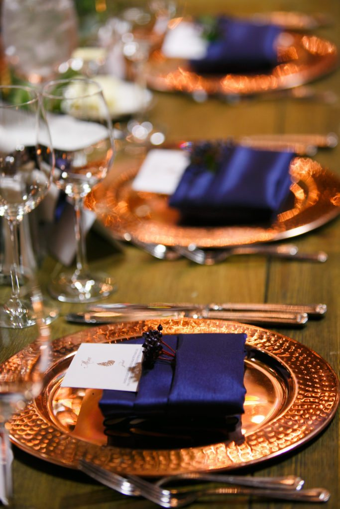 Copper Amp Navy Fall Wedding At Spruce Mountain Ranch