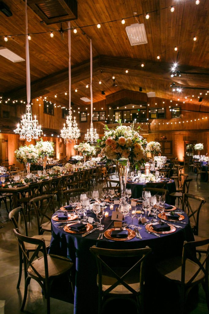 navy and copper wedding