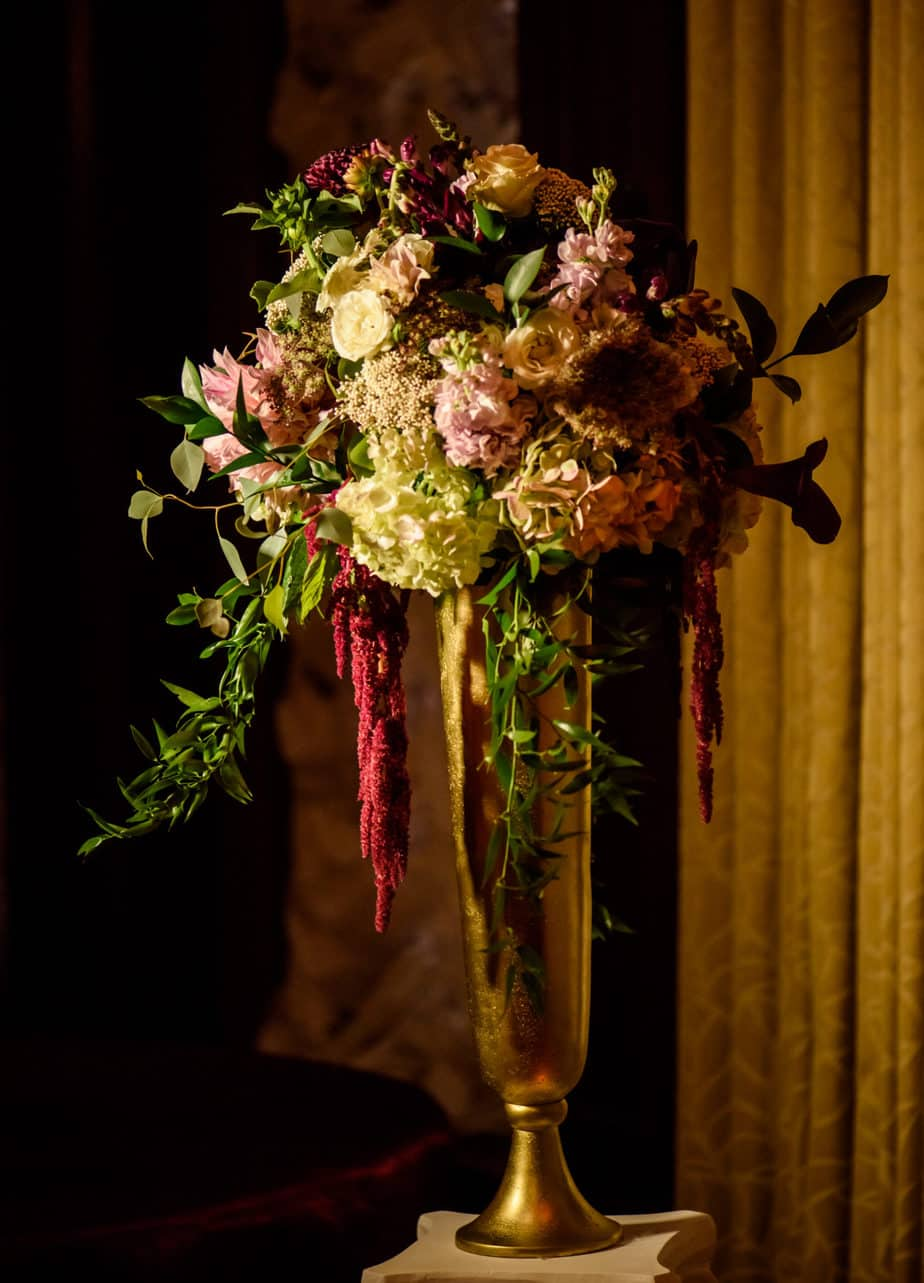 brown palace hotel fall burgundy and gold wedding
