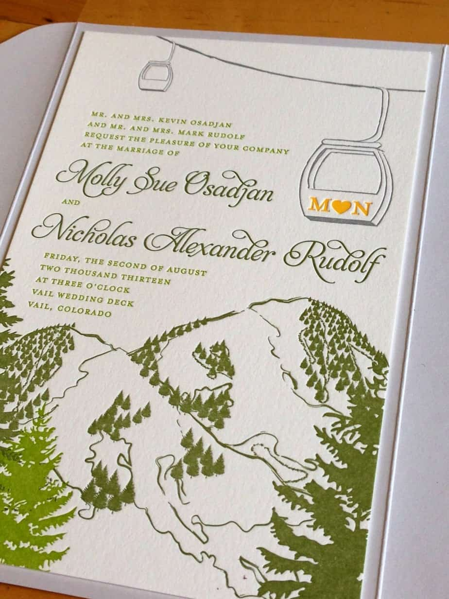 mountain wedding invitations cloud 9 wedding planners denver invitations amp wedding 6057